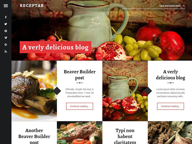 Receptar-Wordpress-Theme-Free